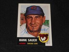 Cubs Hank Sauer (d.02) Signed 1953 Topps Archives Autograph Card #111  JSA  M14
