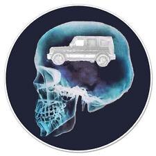 """Car on My Mind Skull car bumper sticker decal 4"""" x 4"""""""