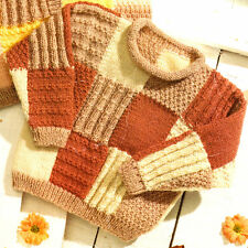 "Patchwork Baby ChildrenTextured Cardigan Waistcoat Sweater -20"" - 30"" DK To Knit"