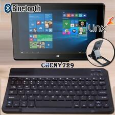 "For 10"" 12"" Linx Tablet - Slim Wireless Bluetooth Keyboard + Stand Holder"