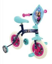 "Disney Frozen Girls Kids 2In1 Stabiliser Training Bike Balance Bicycle 10"" BLUE"