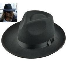 Fd3933 Men s Vintage Retro Genuine Wool Felt Wide Brim Fedora Pork Pie Hat  ... 0f99b8c6d673