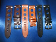 Correa reloj cuero Leather Watch Band Strap 18 - 20 - 22 - 24mm agujeros