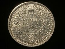 T2: World Coin British India 1942 Silver Rupee Free Shipping in U.S.