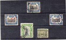 Perú Valores del año 1905-7 (DH-51)