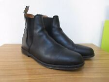 DUKE + DEXTER WOOLF BLACK LEATHER CHELSEA BOOTS ANKLE BOOTS SIZE 11. RRP £230.