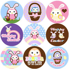 144 Easter Owls 30mm Children's Reward Stickers for Teachers, Spring Party Bags