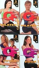 QuickFix Fitness 12 10 Minute Workouts Total Body Abs Power Yoga 4 VHS Videos