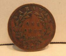 1870 Sarawak One Cent Coin C. Brooke Rajah