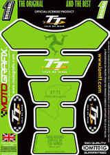 Protège-réservoirs vert pour motocyclette