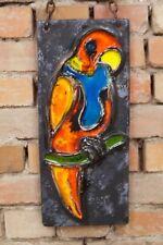 60er Mid Century Design Wandkeramik Keramik Vintage Papagei Fat Lava RUSCHA Ära
