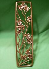 """Vintage Dart Industries gilded FLOWERS & BRANCHES wall sculpture. 22 7/8 """" high"""