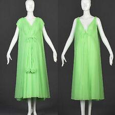 Large Vintage 1960s 60s Lucie Ann Beverly Hills Green Pom Pom Lingerie Set Pinup