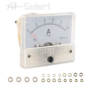 0-10A  Analog Panel Meter Ammeter Measuring Voltage Current Pointer Phase Power