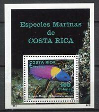 35447) COSTA RICA 1994 MNH** Marine Life S/S Scott# 475