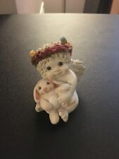 """Dreamsicles Angel Figurine w/ Bunny & Flower Crown (1996) """"Some Bunny To Love"""""""