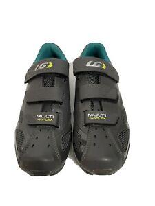 NEW! Louis Garneau Womens Multi Air Flex Bike Cycling Shoes Asphalt Sz 7.5 (40)