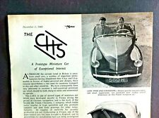 C H S French Miniature Car -1948 - Introductory Article from TheMotor .