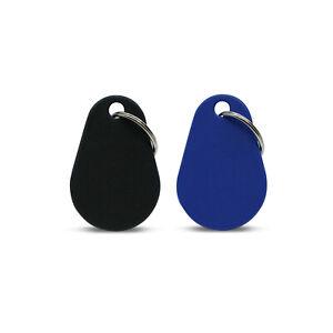 2 NFC Anhänger Polyamid, 45 x 30 mm, NTAG 213, IP68, blau & schwarz