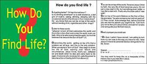 Gospel Leaflets Tracts HOW DO YOU FIND LIFE? Pack 100 outreach church Bible