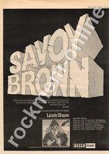 Savoy Brown Lion's Share Quaintways, Chester MM3 LP/Tour advert 1973