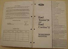 Ford cortina mk iv 1978 original workshop manual army issue code nº 22490