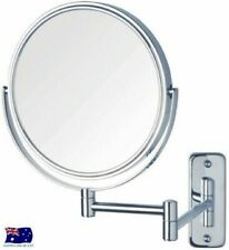 WALL MOUNT MAGNIFYING COSTEMIC 2SIDED BATHROOM MIRROR 16cm 3X MAGNIFICATION WL22
