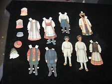 Antique Vintage Paper Doll Assortment European Swedish Early 1900's