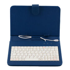 Sky Blue PU Leather Case Cover with MINI Micro USB Keyboard For 7 Inch Tablet