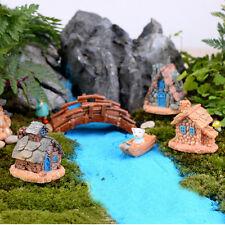 4Pcs Miniature Resin Elf Fairy Castle House Dollhouse Craft Garden Decor