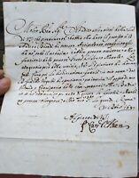 1687 136) LETTERA DEL CARDINALE ROMANO PALUZZO PALUZZI ALTIERI DEGLI ALBERTONI