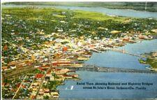 uralte AK, Aerial View, showing Railroad and Highway Bridges across St. John´s R