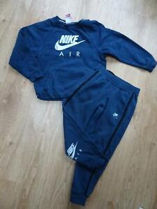 NIKE AIR boys 2 piece navy tracksuit set trousers jumper AGE 6 - 7 YEARS