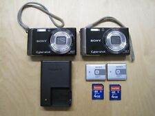 Lot of 2 Sony Cyber-shot DSC-W370 14.1MP Digital Camera - Black