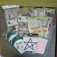 Lot of 13 Packs Crafting Art Stencils and Stickers