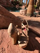 Betsey Johnson Wedge Ankle with spikes Heels Sz 6