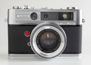 Yashica Lynx 5000 35mm Rangefinder Film Camera Yashinon 4.5cm f1.8 Lens... EXC+