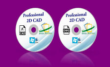 2-in-1 Professional CAD Software AUTOCAD 2D CAD Drawing  WINDOWS 7 8 10 Mac OSX
