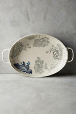 Anthropologie Linda Fahey Pacifica Stormy Seas Serving Platter NEW actual pic 👀