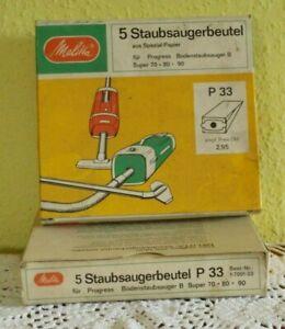 Staubsaugerbeutel Melitta P 33 Vintage für Progress Bodenstaubsauger B Super 70