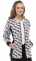 Tooniforms Women's Long Sleeve Zip Front 100% Cotton Warm Up Scrub Jacket. 6315C