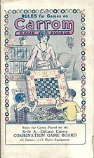 c1901~Vintage Rule Book~Parlor Games~Carrom Game Boards~Style A DeLuxe~Catalog