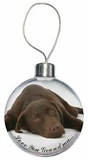 AD-L54R2CB Labrador with Red Rose Christmas Tree Bauble Decoration Gift