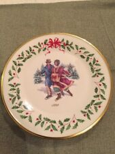 """Lenox China 8th Annual Holiday Christmas Plate 1998 """"Skater's Waltz"""""""