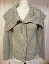 Ladies soft autumn winter Grey Knitted warm cowl Cardigan 14-16 EXCELLENT