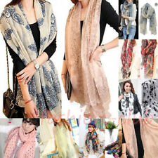 Women Pretty Long Soft Chiffon Ladies Scarf Wrap Voile Shawl Stole Scarves Gift