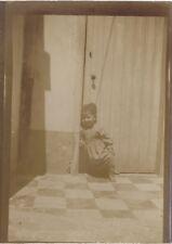 Snapshot Enfant Afrique Photographie Originale Vintage Citrate ca 1900 ND17