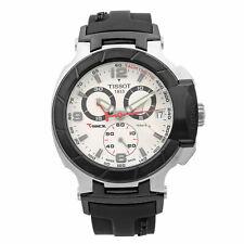 Tissot T-Race Chronograph Steel White Dial Quartz Mens Watch T048.417.27.037.00