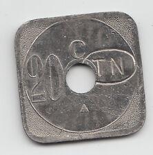 20 centimes transit Monnaies de Necessite jeton token Nantes France holed