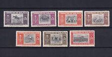 BOLIVIA 1951, Sc#C150-C156, Air Mail, Architecture, Sport, MH